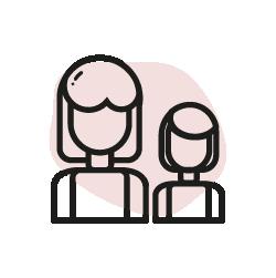 Förälder och barn ikon
